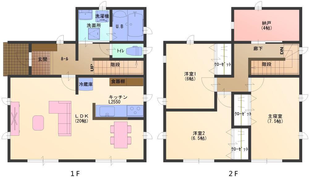 LDKを充実させた機能的な住まい 30坪プラン